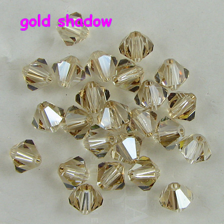 K9 Crystal Grade AAAA 5301# 3mm 4mm 6mm 8mm Silver Shadow Color Glass Bicone Beads