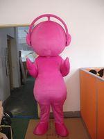 Mascot Pink Blue Music Doll Mascot Costume Fancy Dress Custom Fancy Costume Cosplay Theme Mascotte Carnival Costume