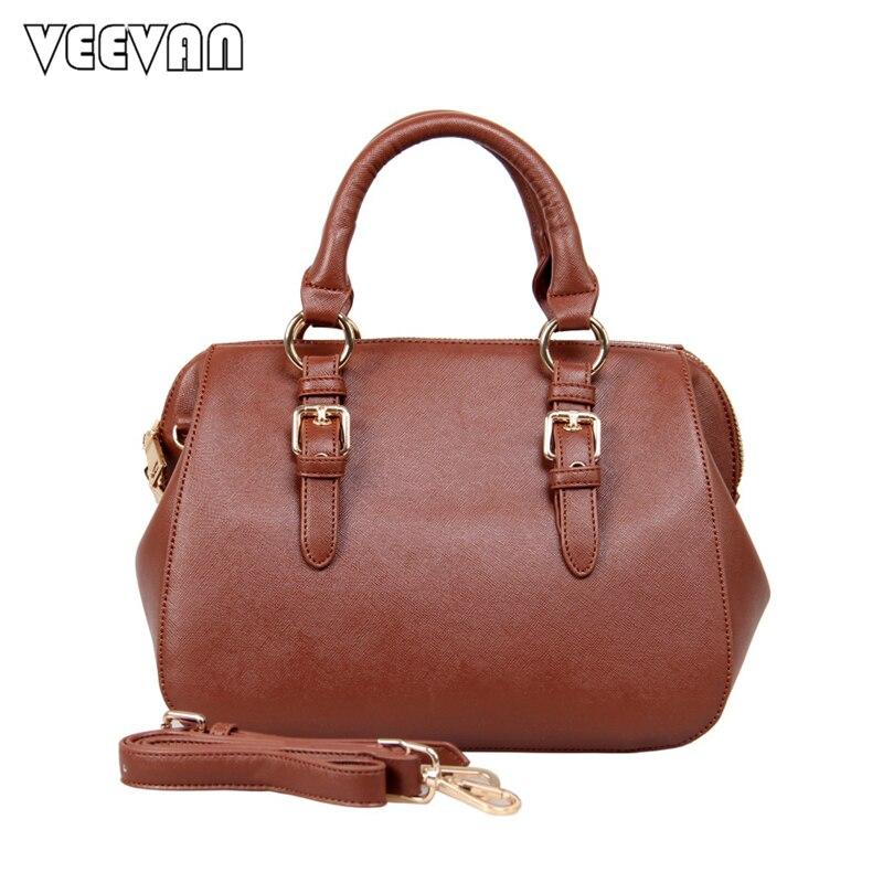 6b9c2e21857 2018 Designer England Style Fashion Boston Bags PU Leather Ladies Handbag   Cross  Body Bags Solid Women Shoulder Messenger Bags