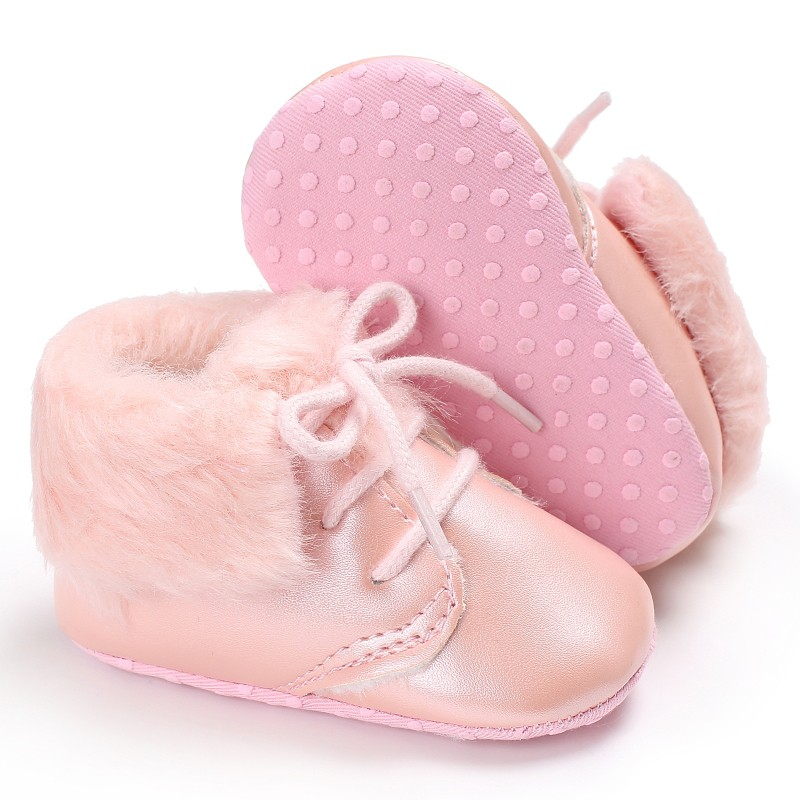 0-18 Mouth Baby Girls Boys New Winter Ankle Crib Babe Shoes Newborn Infant Toddler Lace Up Sneakers Keeping Warm Baby Shoes