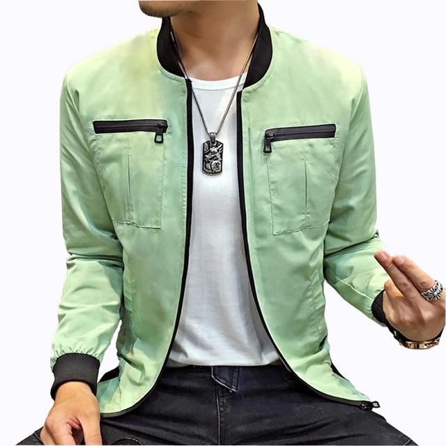 New Design Fashion Trend Multi-Pocket Men's Jackets Casual Slim Fit Solid Cargo Jacket Men Zipper Coats Outerwear Windbreaker