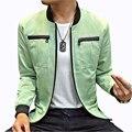 Nueva Tendencia de Diseño de Moda Multi-Bolsillo de Los Hombres Chaquetas Casual Slim Fit Solid Chaqueta De Carga Hombres Zipper Abrigos Abrigos rompevientos