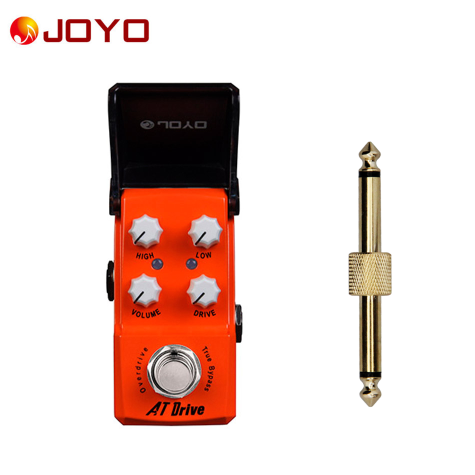 NEW Guitar effect pedal JOYO AT Drive Train Ironman series mini pedal JF-305+ 1 pc pedal connector joyo ironman at drive overdrive electric guitar effect pedal true bypass jf 305 with free 3m cable