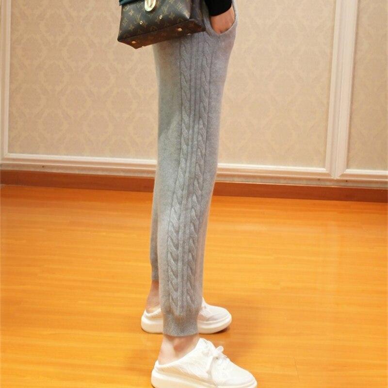 2018 Frauen Herbst Und Winter Trendy Warme Leggings Weibliche Elastische Kaschmir Casual Hosen Frauen Grau Gerippte Mode Hosen BerüHmt FüR AusgewäHlte Materialien, Neuartige Designs, Herrliche Farben Und Exquisite Verarbeitung