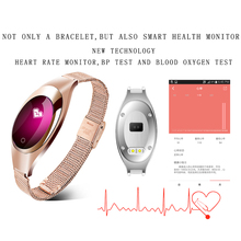 Ravi Z18 Women Lady Jewelry Smart Watch Heart Rate Blood Pressure Monitor Fitness Tracker Smart Bracelet connect Android IOS