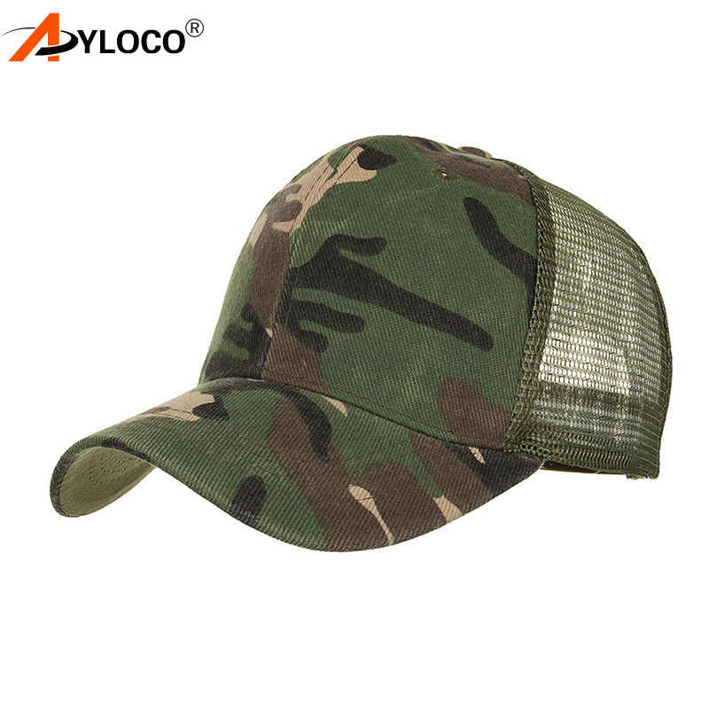 fbed8540 2018 New Arrival MEN'S HATS Men Camo Baseball Caps Mesh for Spring Summer  Outdoor Camouflage Jungle