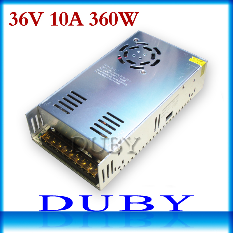 цена на 36V 10A 360W Switching power supply Driver For LED Light Strip Display AC100-240V Factory Supplier Free Shipping
