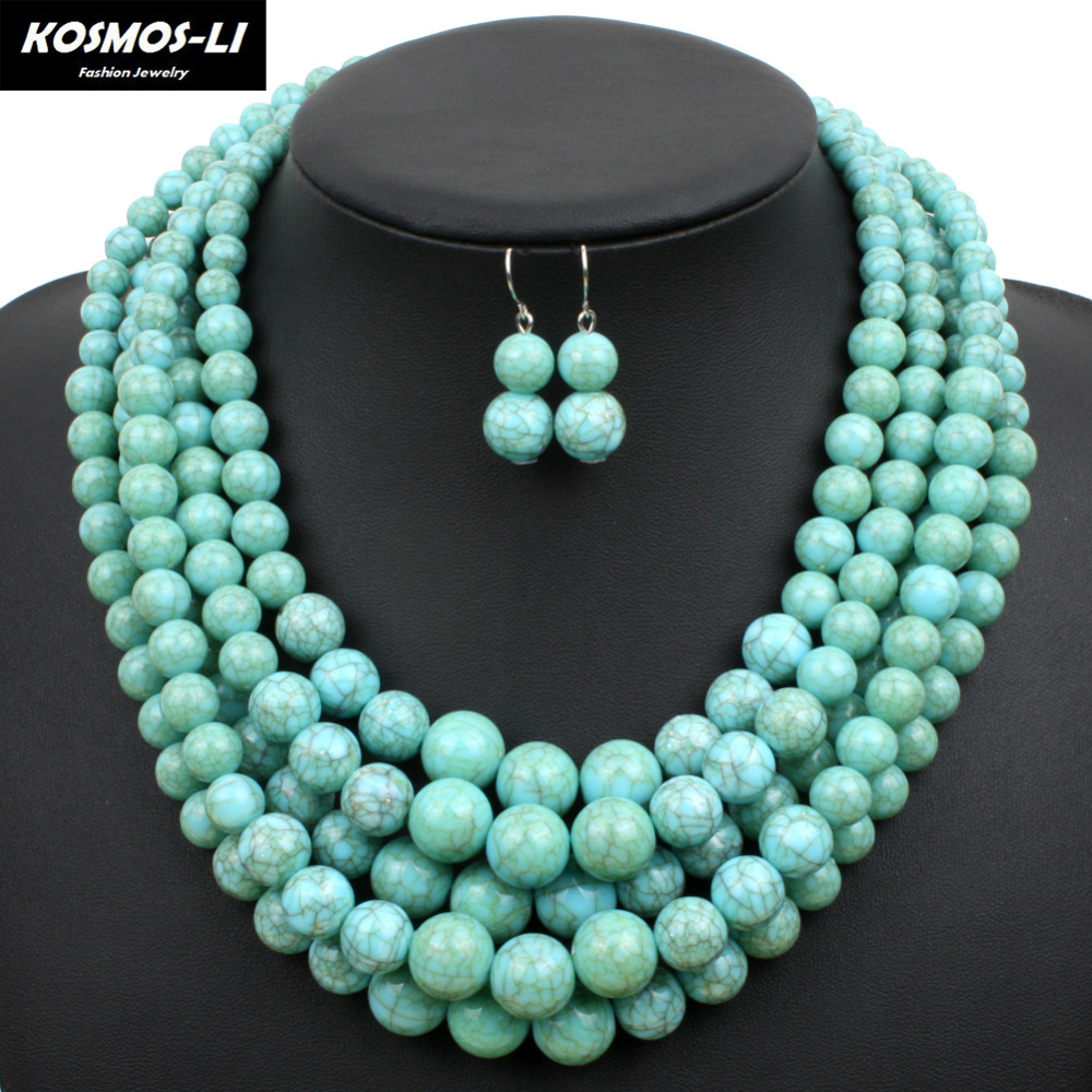 Prix pour Perles collier en plastique résine femmes déclaration collier à la mode chaînes colliers parti bijoux 6510