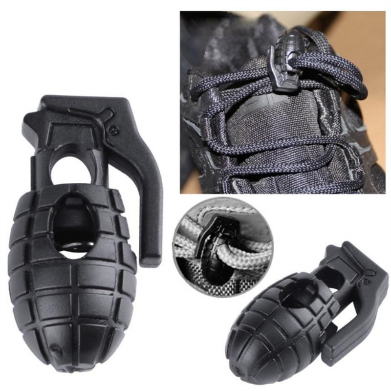 6pcs/set Tactical Hiking Boots Shoes Shoelace Buckles Tightening Buckle Outdoor Carabiners Hiking Climbing Accessories