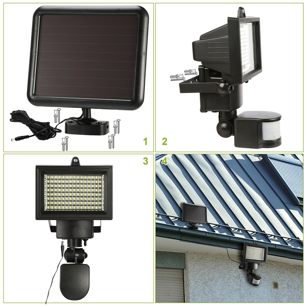 120 LED Solar Lâmpada De Indução Wall
