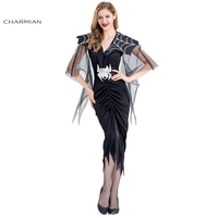 Charmian Sexy Spider Women Halloween Costume Adult Gothic Black Spider Cosplay Costumes Carnival Party Fancy Dress Clothing