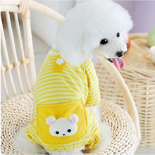 XS/S/M/L/XL собака мелких пород полосы комбинезоны пижамы верхняя одежда, жакет Одежда хлопок 30