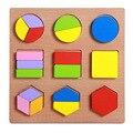 Oyuncak materiais montessori formas geométricas brinquedos para crianças brinquedo educativo de madeira matemática bebê juguetes brinquedos educativo