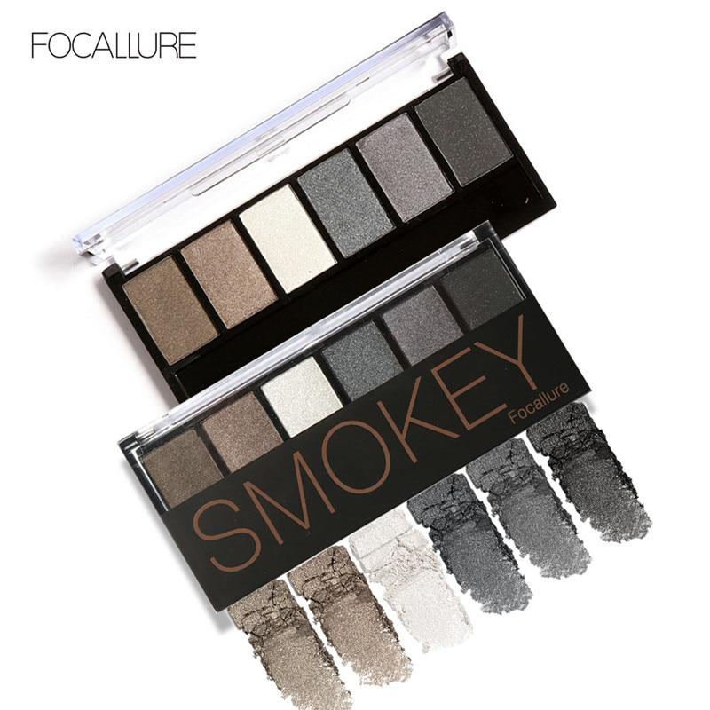FOCALLURE 6 Colors Eyeshadow Palette Glamorous Smokey font b Eye b font font b Shadow b