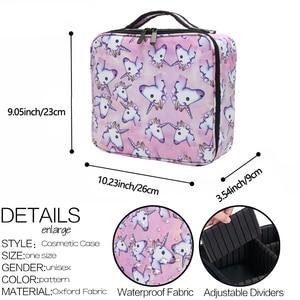 Image 4 - Deanfun ユニコーン化粧ケース多機能化粧品バッグトラベルオーガナイザー列車ケース調節可能なディバイダーで 16001
