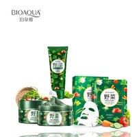 3 шт./лот bioaqua Уход за кожей омолодить серии овощи увлажняющий гель крем и Молочко для лица и маска * 3