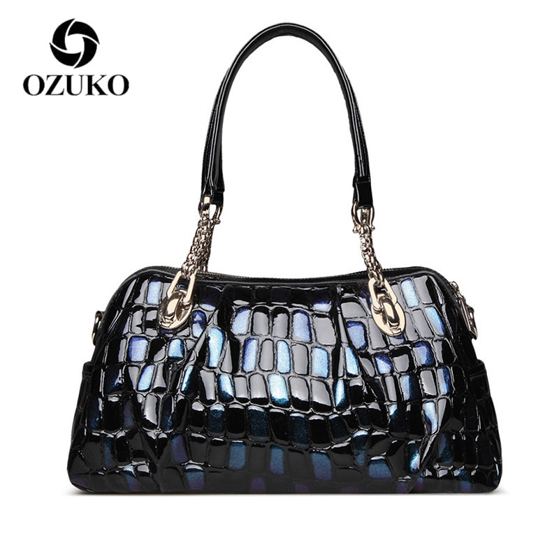OZUKO genuine leather bags for women shoulder bag fashion luxury handbags women bags designer bolsa feminina new zooler genuine leather bags for women luxury handbags bags woman famous brand designer shoulder bag bolsa feminina u 505