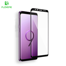 FLOVEME 3D Curved Glass For Samsung Galaxy S9 + HD Screen Protector S8 Plus Glasses Soft Ultra Thin Tempered Film