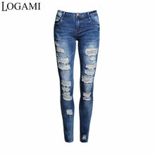 c2aab89c3b1 LOGAMI Denim Jeans Pants Women 2018 New Arrival Ripped Jeans Ladies Skinny  Jeans For Women