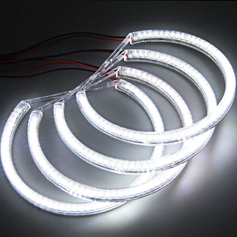 ФОТО High quality 1 SET Xenon white 4x131mm E36 E38 E39 E46 SMD LED Angel eyes FOR BMW E39 Auto LED bulbs Car-styling Car accessories