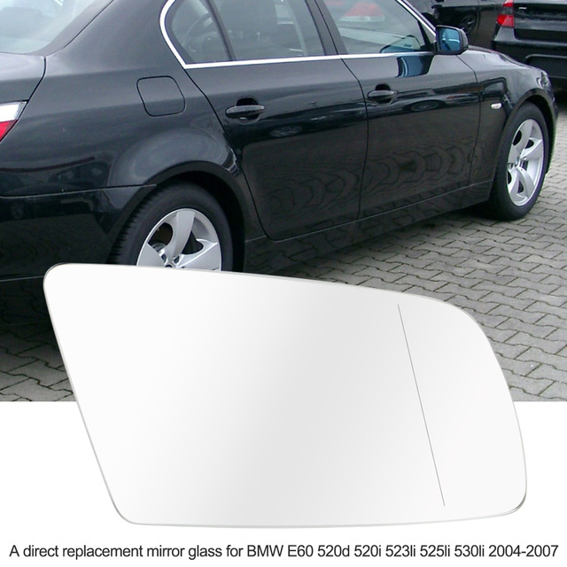 Right Side Door Wing Mirror Glass with Heated Function for BMW E60 ...