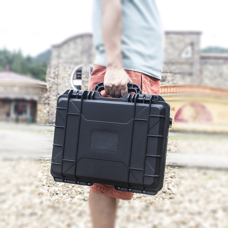 ABS Plastic Safety Box Equipment Instrument Tool Case Sealed Toolbox Impact Resistant Shockproof Dry Box With Pre-cut Foam