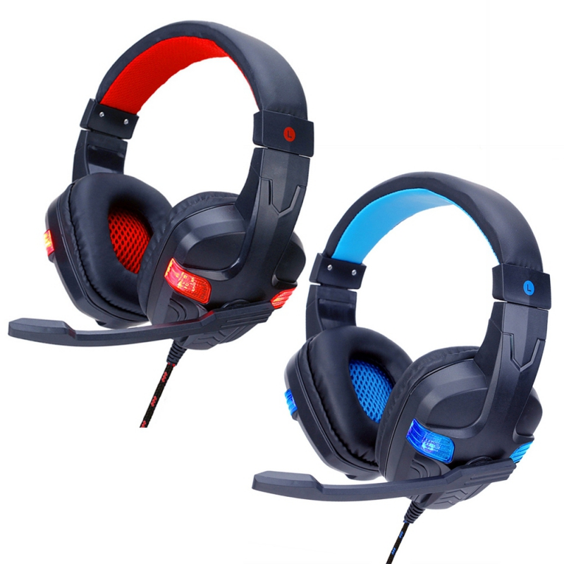 Stereo Gaming Headset Mic for PC Laptop Game Console Welcome Charming HiFi LED Noise Cancelling MIC Game Headphone For PS4