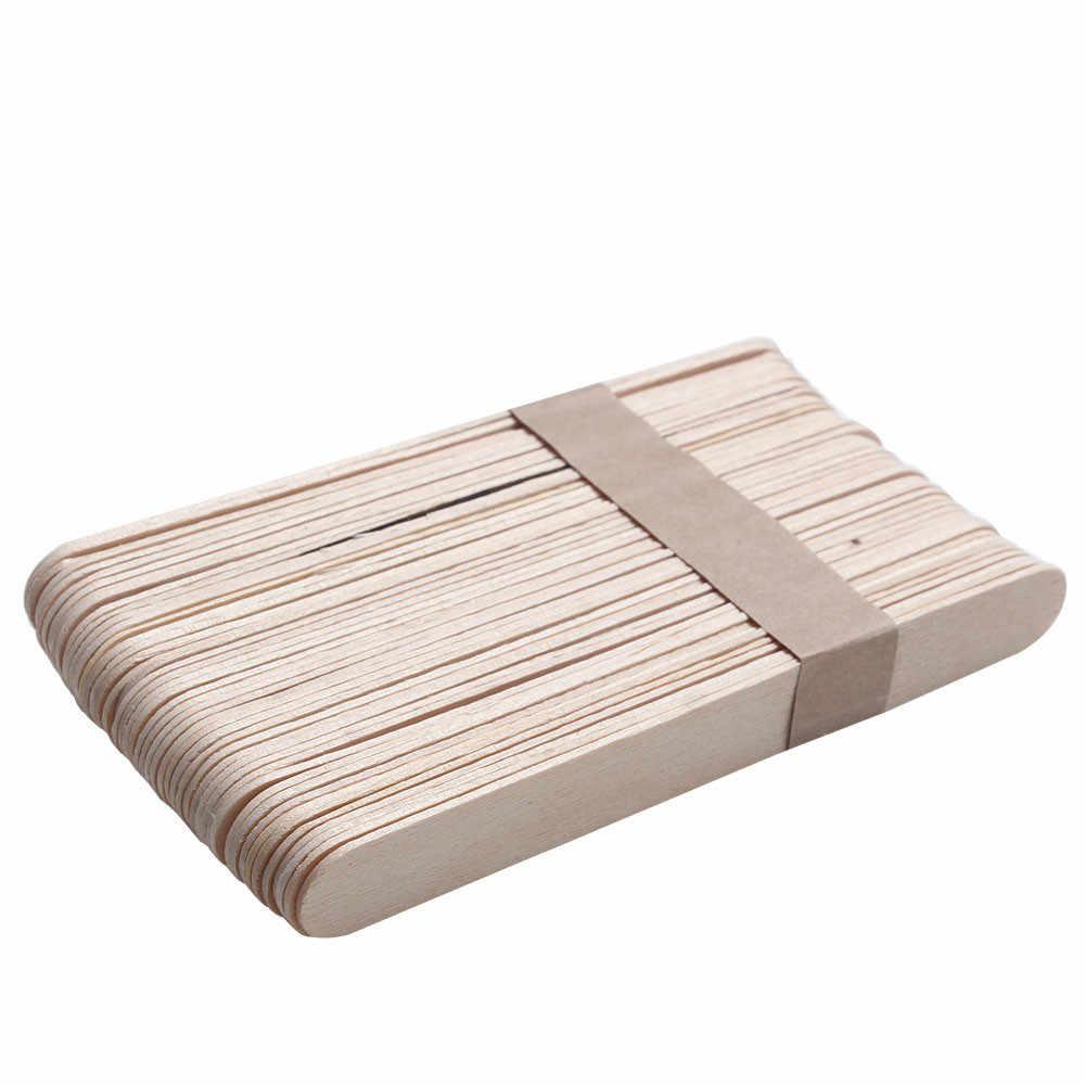 Epilasyon Çubukları 10 ADET Balmumu Ağda Tek Kullanımlık Sopa Beyaz Ahşap Vücut Silme sopa Araçları 2019 Jan10