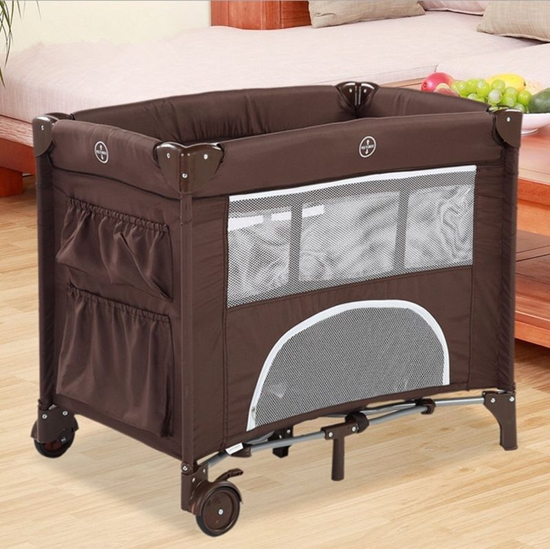 2 Color Environmental Protection Baby Multifunctional Folding Baby Crib Infant Baby Bed Kids Bed Baby Portable Playpen Game Bed free shipping 2016 hot sale baby crib portable detachable folding bed baby portable multifunctional folding baby bed