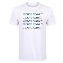 LUSLOS  S-3XL Plus Talking Heads Men Tops Tees Short Casual O Neck T-Shirt