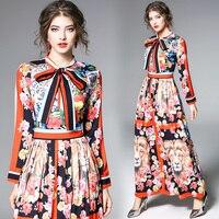 Плюс Размеры Для женщин Винтаж с цветочным принтом тигра Макси Платье Весна Модная рубашка Платье для вечеринки