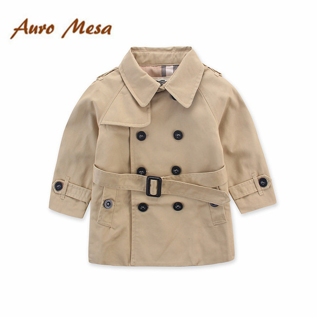 Fashion Brand Children Coat Spring Autumn Kids Boy Trench Clothing Outerwear