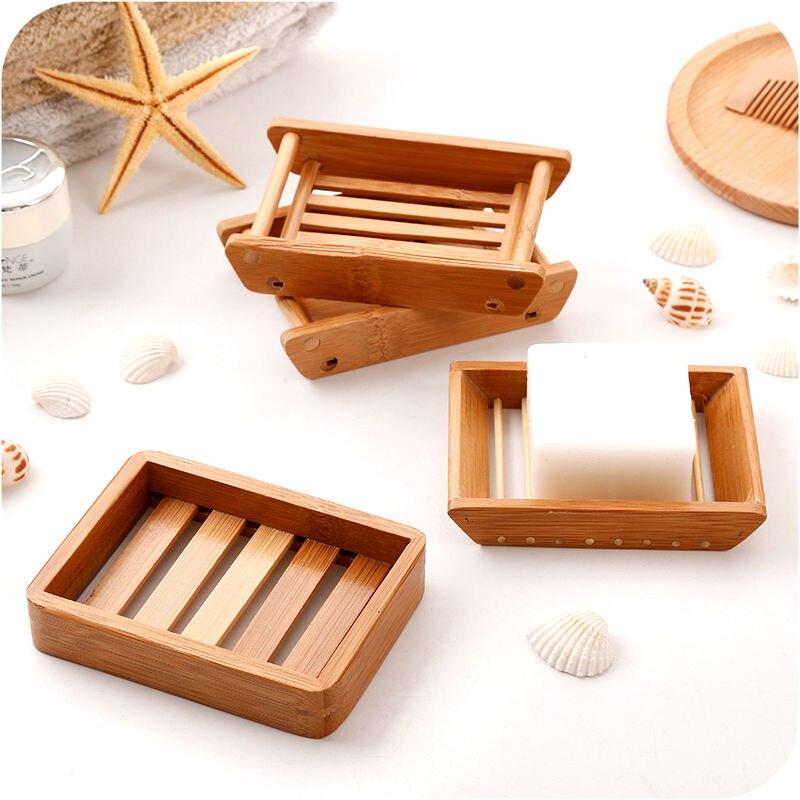 style japonais creative porte savon en bois de bambou a la main en bois titulaire vidange boite de savon simple design pour salle de bains