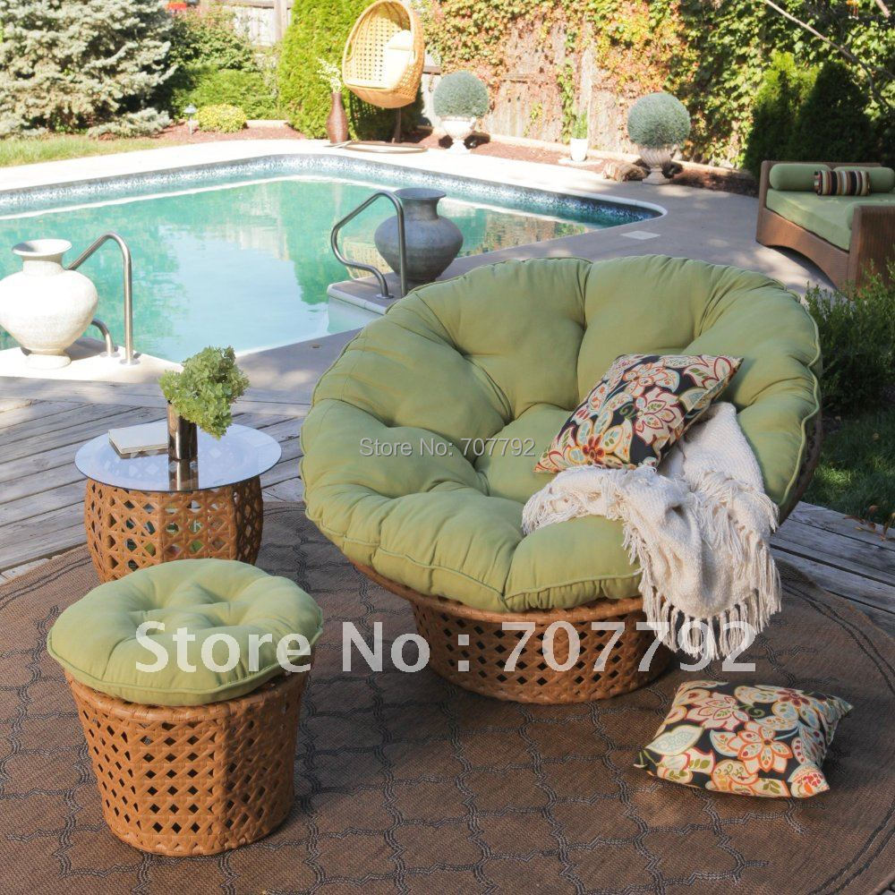 All Weather Wicker Outdoor Papasan Chair Set in Garden Sofas from     All Weather Wicker Outdoor Papasan Chair Set in Garden Sofas from Furniture  on Aliexpress com   Alibaba Group
