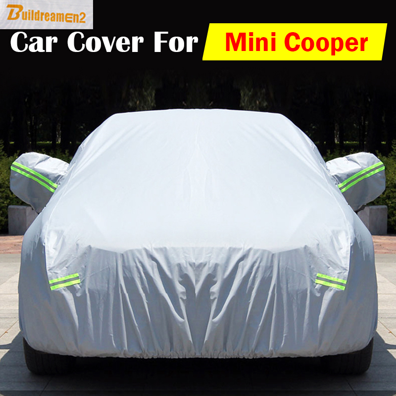 Buildreamen2 Car Cover Anti UV Scratch Snow Rain Sun Dust Resistant Cover Waterproof For Mini Cooper All Weather Suitable ! buildreamen2 waterproof car covers sun snow rain hail scratch dust protection cover for mercedes benz gle 350 400 450 300 320
