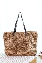 Neue Art und Papier Rattan Große Einkaufstasche Strand Schultertasche Handtasche