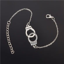 Silver Color handcuffs Punk Bracelets For Women Silver Bracelets Chain Bangles Fashion Jewelry Summer Style Gift(China)