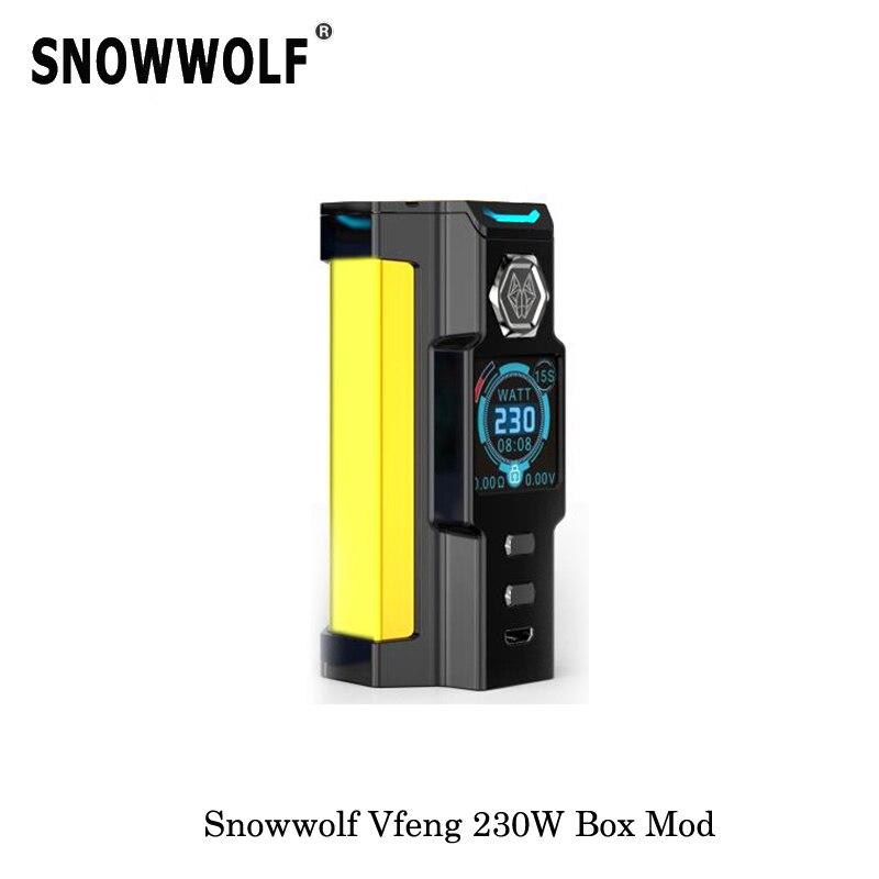 230W Original Electronic Cigarettes Sigelei Snowwolf Vfeng Starter Kit Box Mod 510 Threading 2017 Mechanical Mod Vape Vaporizer