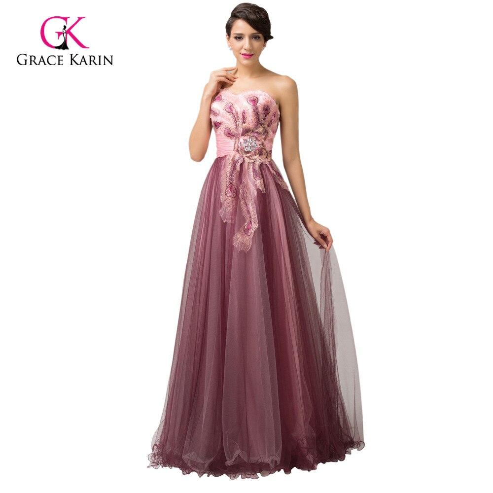 Designer Formal Dresses: Peacock Evening Dresses 2017 Designer Grace Karin Elegant