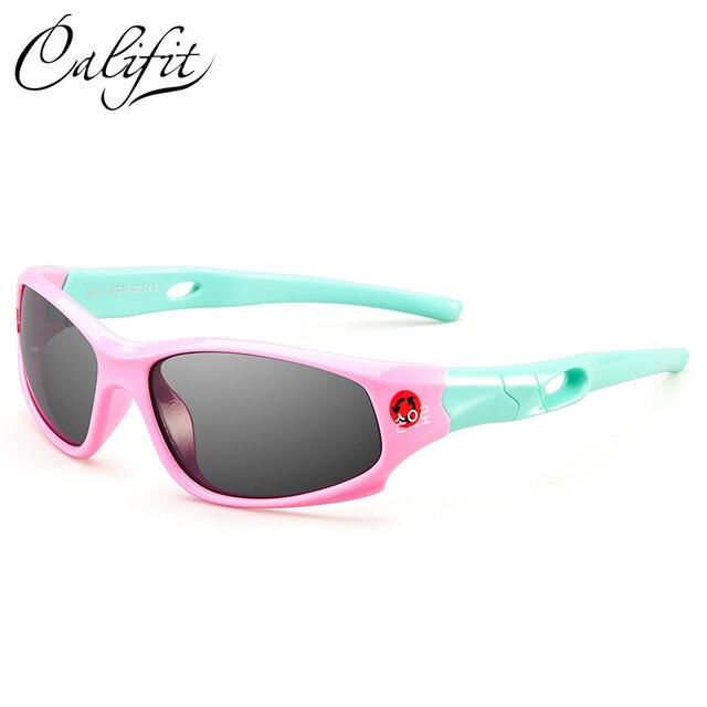 CALIFIT Mode Brand Design Enfants lunettes de Soleil Revêtement de Sécurité  Nuances Coloré Enfants Bébé Garçon a3379216ee80