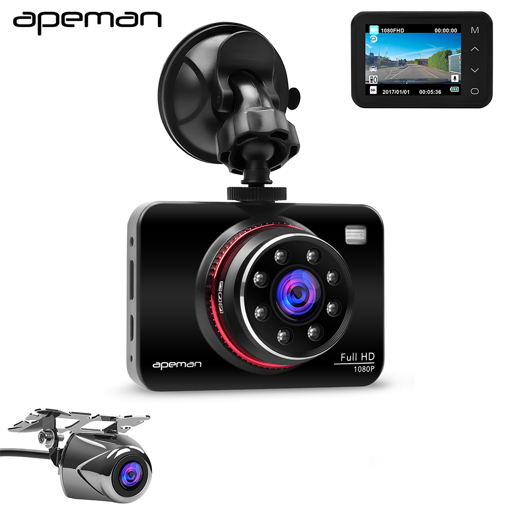 Apeman C660 2.7 inch LCD Night Vision Car Dash Cam Monitor Novatek 96650 Dush Parktronic Video Recorder DVR Camera bosch ghg 660 lcd 0 601 944 302