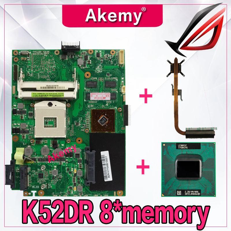 Akemy with HD5470 8 memory 1GB laptop Motherboard For ASUS K52DY A52D K52DE K52D X52D K52DR