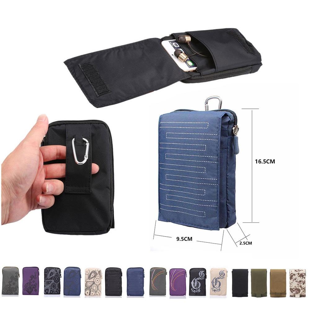 New Sports Wallet Mobile Phone Bag For Multi Phone Model Hook Loop Belt Pouch Holster Bag