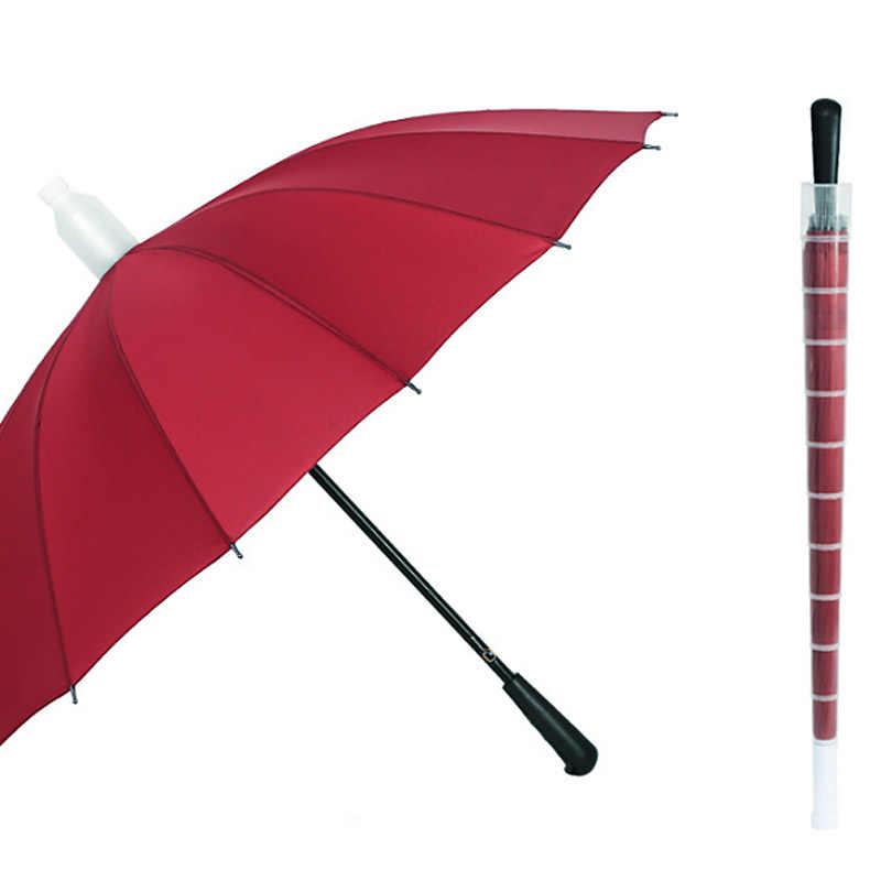 Yesello водостойкий Чехол Длинные Зонты ветростойкий складной зонт с длинной ручкой с водостойким покрытием ветрозащитный зонтик от дождя