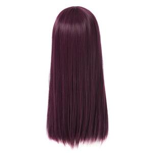 Image 4 - L email peruk Yeni Film Mal Karakter Cosplay Peruk 50 cm Uzun Mor Isıya Dayanıklı Sentetik Saç Peruk Cosplay peruk