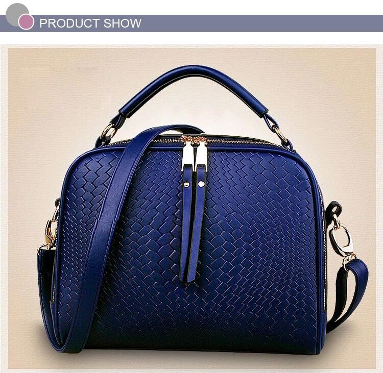 2015 Autumn New Arrival Women Weave Tassel Women PU Leather Handbags Women Shoulder Bag Ladies Casual Messenger Bags BH1150 (9)