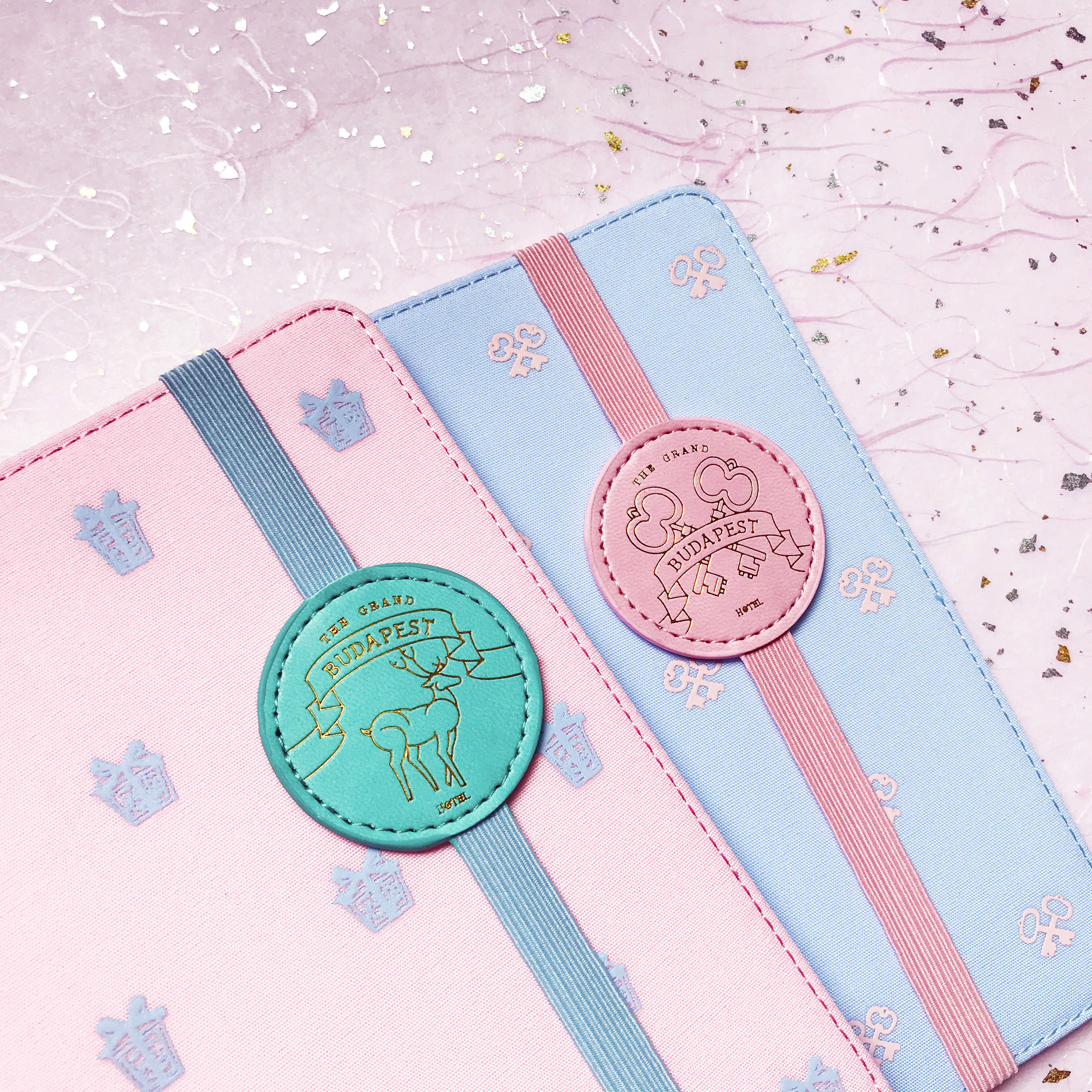 Creative Blue And Pink Budapest Theme Book Band DIY Journal Gift