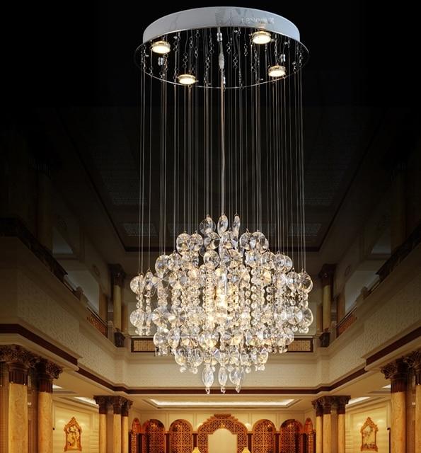 Kristall Decke Lichter Restaurant Lampe Moderne Saug Hngen Runde Dual Use Wohnzimmer Luxus Villa