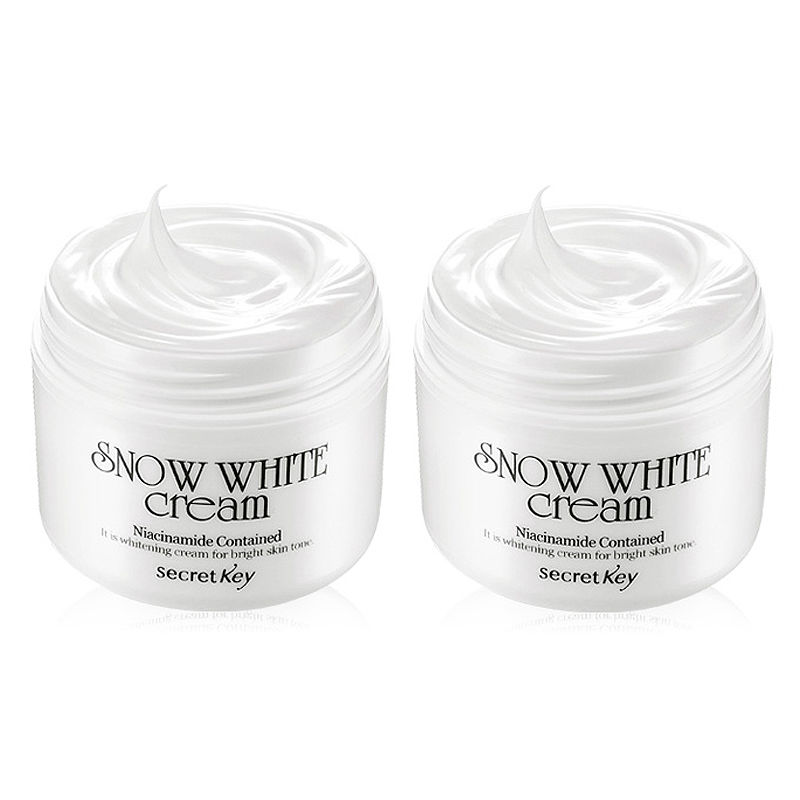SECRET KEY [1+1] Snow White Cream 50g skin Whitening day Cream Korea cosmetic Beauty Products палетки secret key day by day shadow palette soul brown
