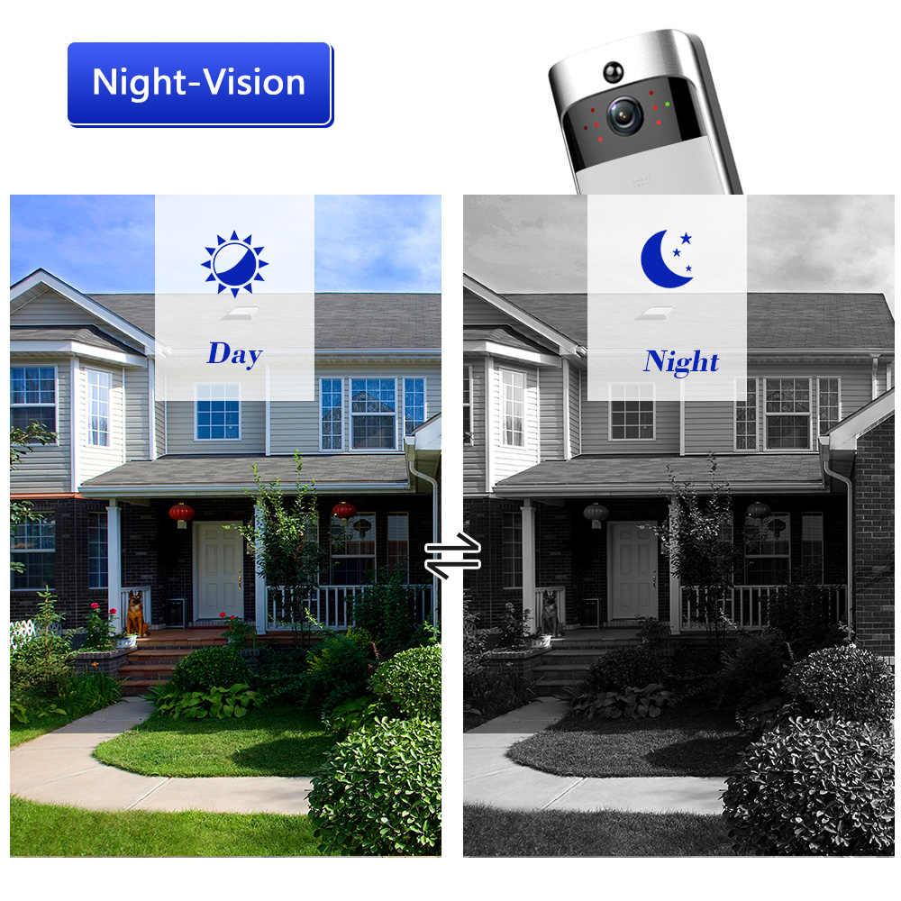WiFi беспроводной безопасности умный дверной звонок 720 P визуальная запись системы селекторной связи видео телефон двери удаленный домашний мониторинг ночного видения